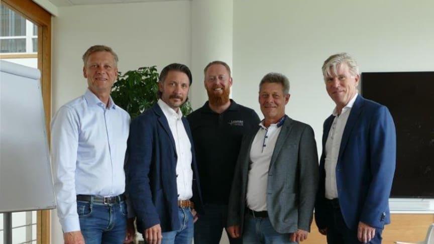 FV: Mikael Vestlund, Pär Undin, Micael Mattson, Hans Terland och Björn WIgström.