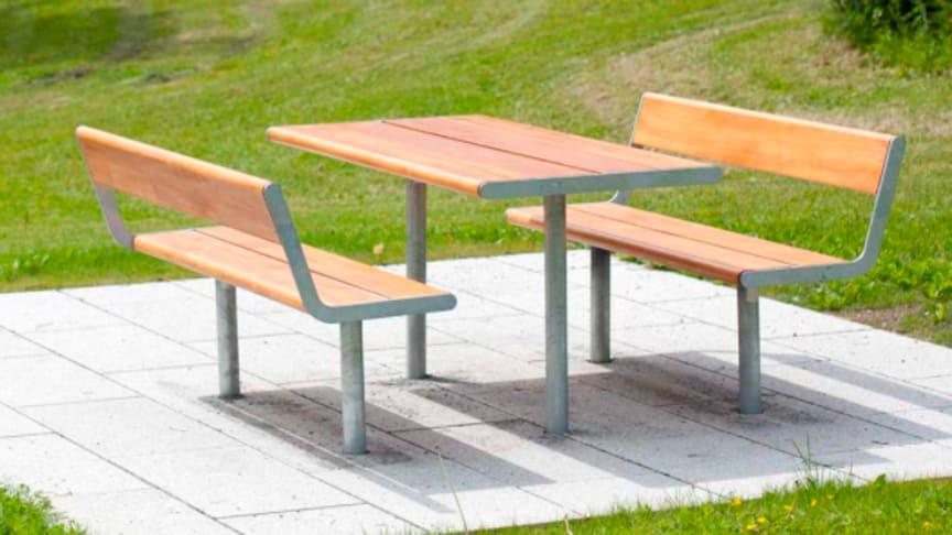 Piknikbord (piknikbordene som er tenkt utplassert er ikke fastmontert)