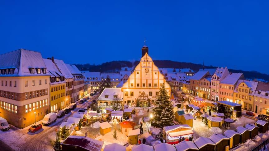 Lichterglanz auf dem Weihnachtsmarkt in Grimma - Foto: Sylvio Dittrich