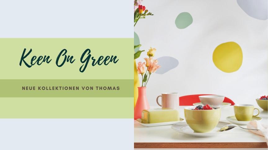 Der neue Farbton Avocado Green zeigt in der Sunny Day Kollektion ein besonderes Kombiniertalent.