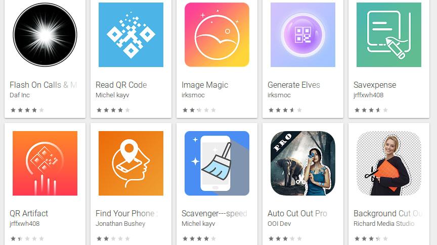 Apparna kan ge sken av att exempelvis vara läsare för QR-koder, backuplösningar, bildredigerare eller verktyg för att ha koll på tidszoner.