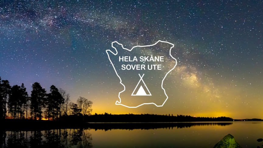 Nätter i naturen ger helt nya intryck. Ge dig ut under Hela Skåne sover ute och dela bilder med #helaskånesoverute Foto: Magnus Lindstrand