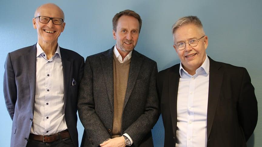 Fra venstre: Halvard Gavelstad, Øyvind Skarholt og Jon Karlsen. Bilde: Byggeindustrien