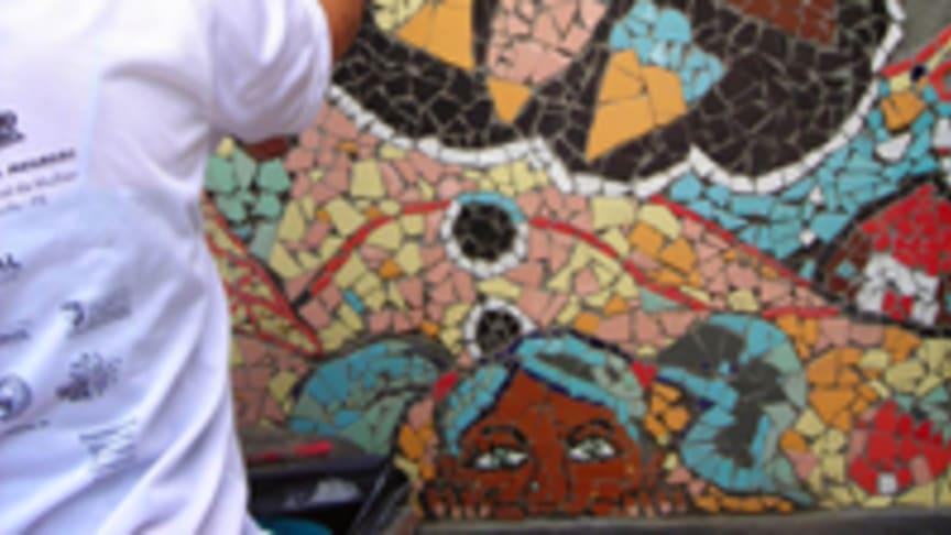 Mosaikkonstverket i Folkets Park invigs på fredag