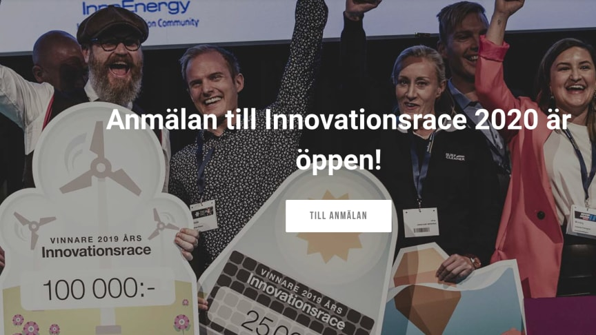 2019-års pristagare i Innovationsracet på  Power Circle Summit