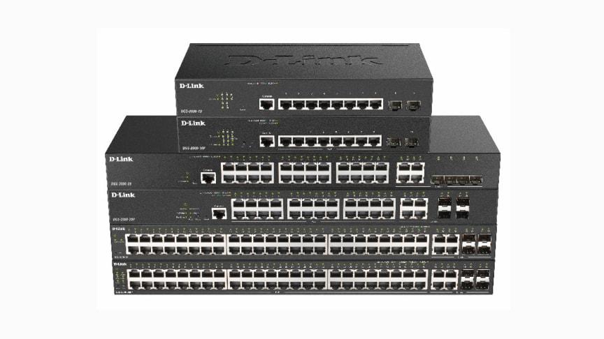 Med DGS-2000-seriens administrerbara switchar kan D-Link erbjuda företag och offentlig sektor flexibla lösningar för driftsättning och nätverksadministration.