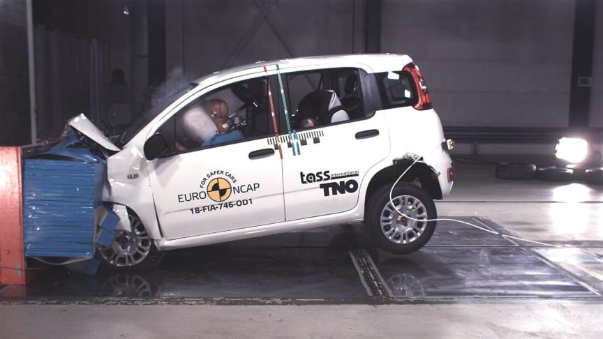FIAT Panda frontal offset test