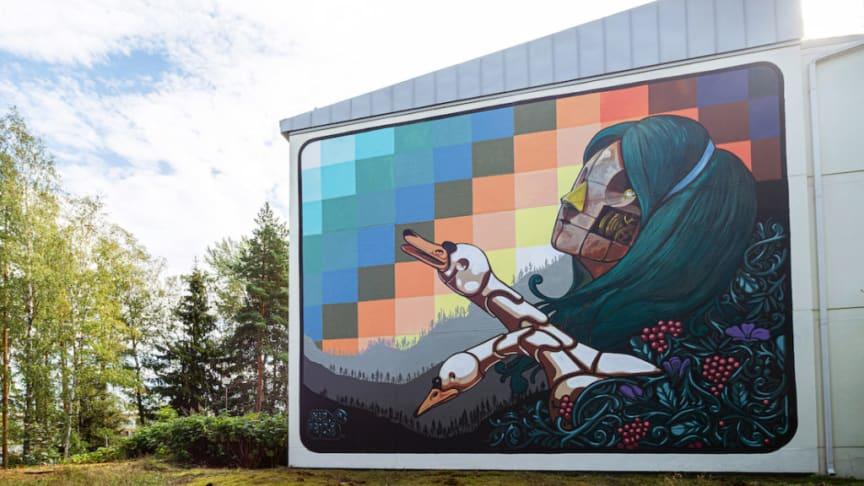 Pixel Panchon teos Karakallion taidealueella. Kuva Ilkka Vuorinen