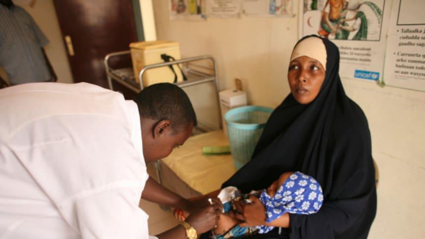 Barnen i Somalia får nytt vaccin mot dödliga sjukdomar