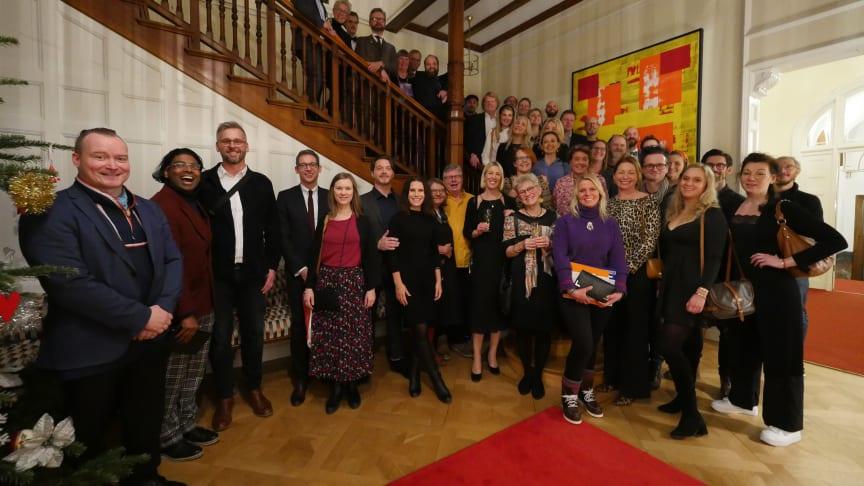 Kategorivinnarna samlades på franska residenset i firandet av Årets kokbok 2019 och Gourmand Awards 20 års-jubileum. Foto © Iréne Moneeo, Taste of Sound.