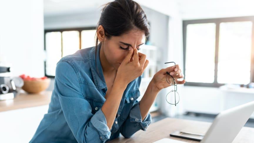 Var tredje person har arbetat hemma under pandemin – 40 procent upplever sämre synergonomi vid hemmajobb
