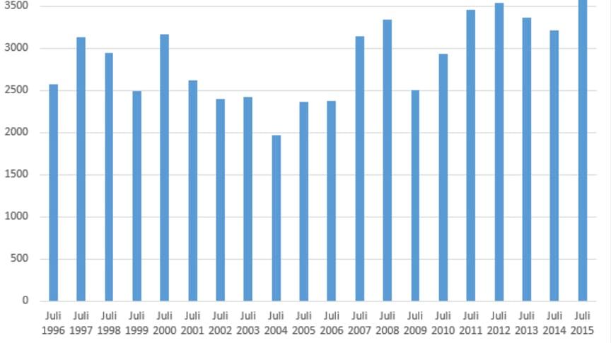 Bästa julimånaden för nyföretagandet på 20 år