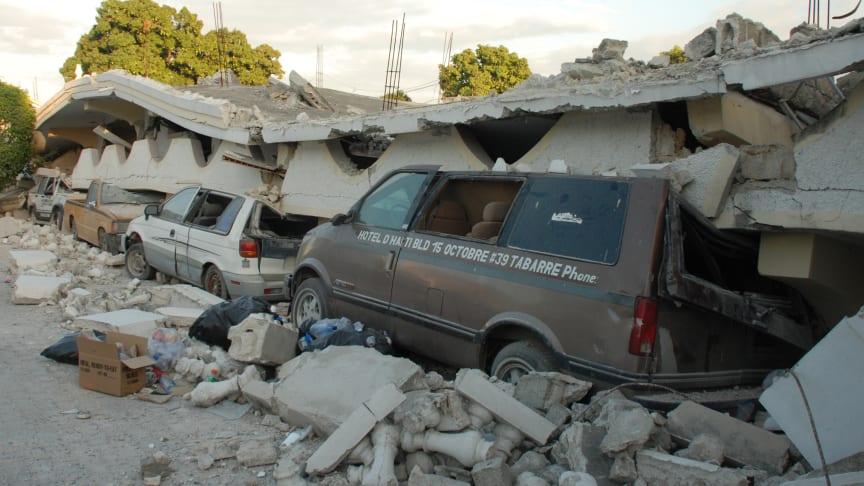 Arkivbild från MSB:s insats i samband med jordbävningen på Haiti 2010.