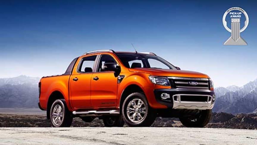 """Nye Ford Ranger vant prisen """"Årets internasjonale pickup 2013"""""""