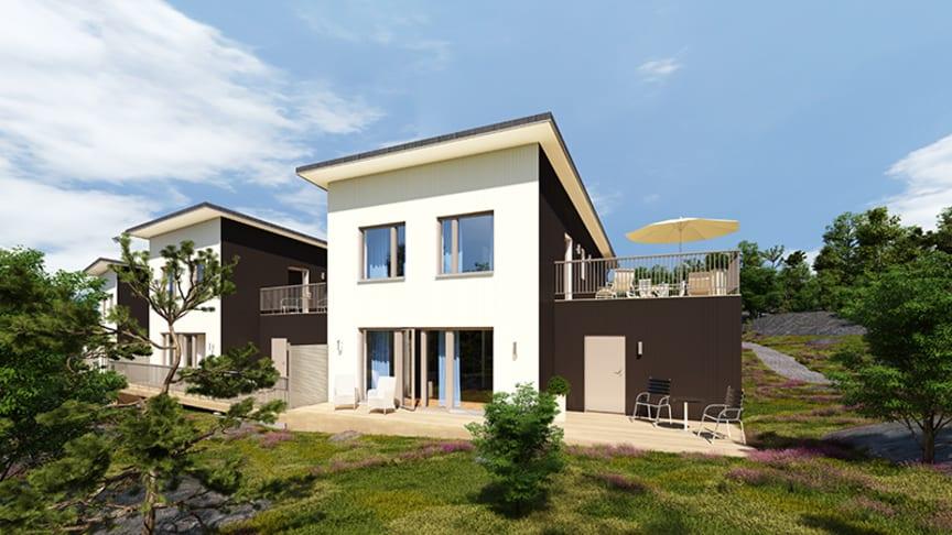 Nu byggs det småhus i Högsbohöjd igen