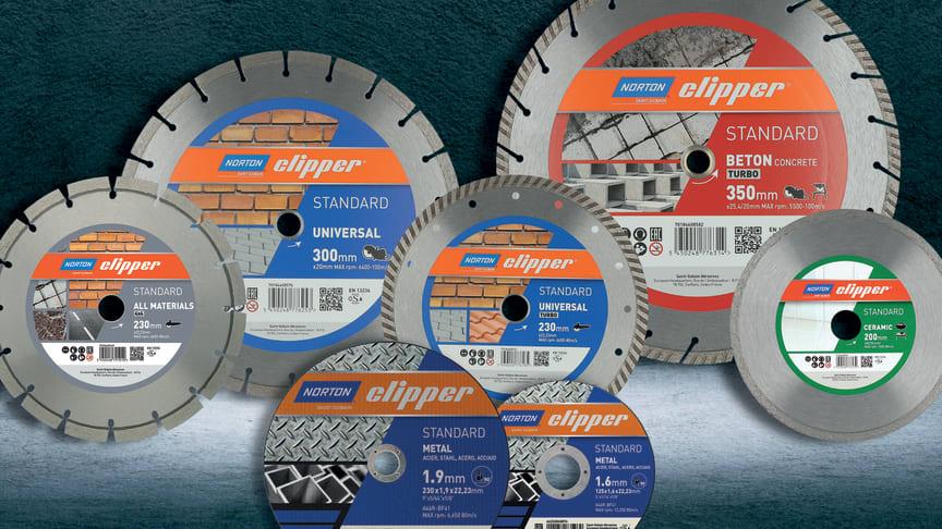 Standard- sarjan timanttilaikat, katkaisu- ja hiomalaikat ovat osa Norton Clipper - valikoimaa, jotka tarjoavat asiakkaalle kattavan ja kilpailukykyisen valikoiman eri käyttökohteisiin laadun ja hinnan suhteen.