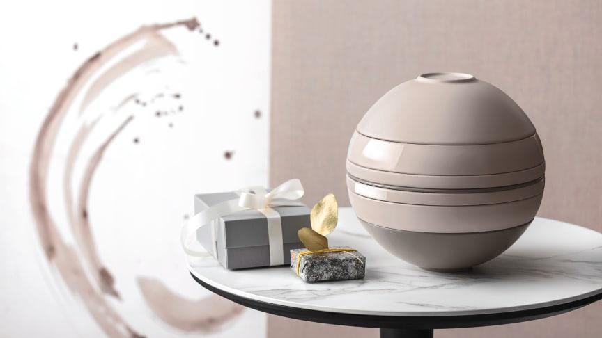 Sanfte Farben, starke Form: La Boule pure beige