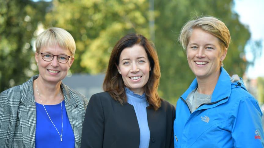 Lena Ahlgren, Lisa Lydemar och Emma Jakobsson på Umeå Energi är nominerade i Årets Kraftkvinna 2019, ett pris som vill synliggöra och lyfta kvinnor i energisektorn.