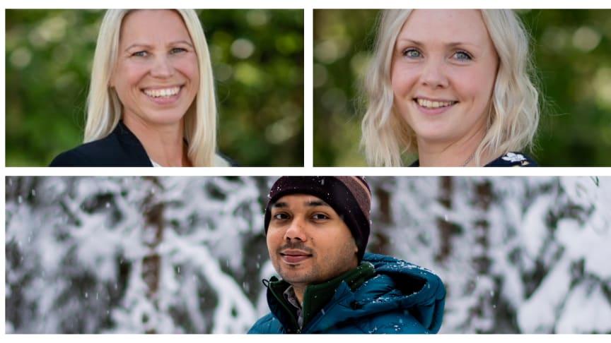 Nya på QureTech Bio är Annica Rönnbäck, Mari Bonde and Souvik Sarkar.