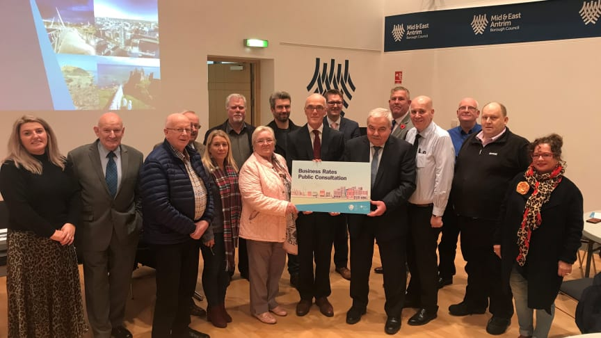 Aldermen, Councillors and Council's senior management joined Dr Eoin Magennis, Ulster University Economic Policy Centre, Alan Brontë, Director of Rating Policy Division at the Department of Finance, for a Business Rates workshop.