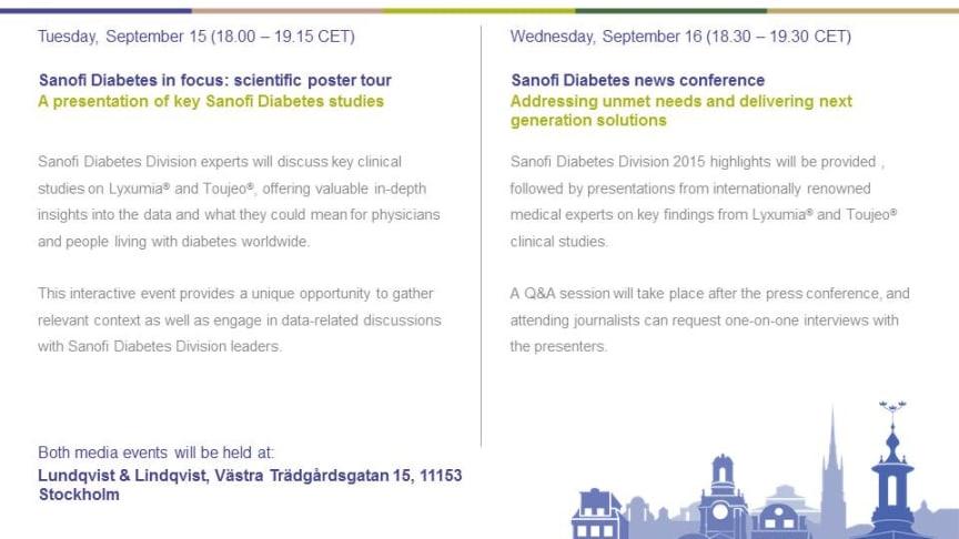 Sanofi Diabetes in focus: scientific poster tour - A presentation of key Sanofi Diabetes studies