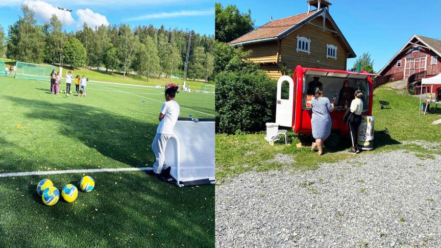 Fotballskole på Rommensletta og Eplebua på Øvre Fossum gård har bidratt til å gjøre sommeren fin for mange barn og unge på Stovner.