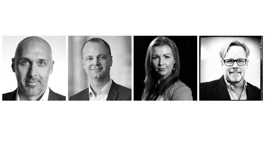 Fr v: Johnny Mostacero, förbundsordförande IOGT-NTO. Ledarmöter: Anders Örnulf, Petra Steenhouwer, Per Melander.