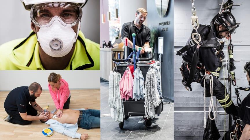 Vad kan du om andningsskydd, HLR, lokalvård och fallskydd?