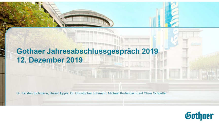 Gothaer geht mit erfolgreicher Bilanz 2019 ins Jubiläumsjahr