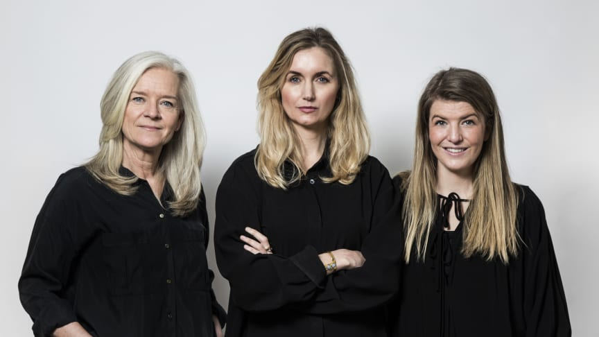 Ami Hovstadus, marknadschef / Joanna Sundström, vd / Sanna Lindberg, huvudredaktör. Foto: Ellinor Hall