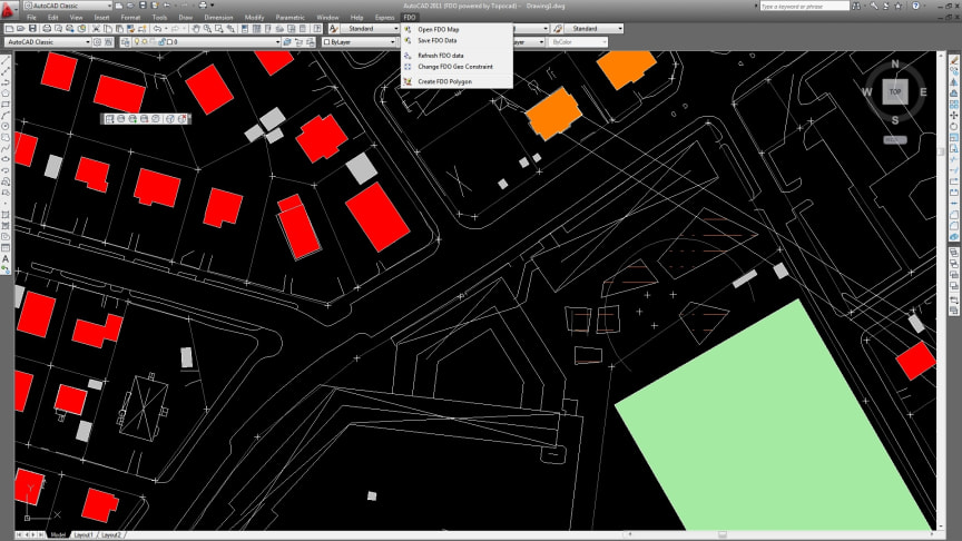 Use the same database map in Topocad as in AutoCAD