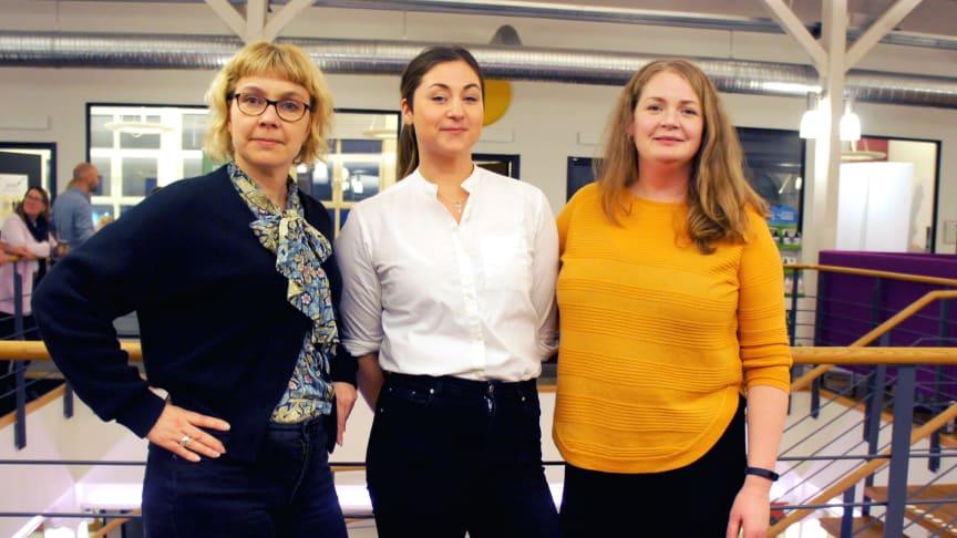 Mona Sundin - BizMaker, Melina Bergström - Ideon Innovation och Cecilia Nordlund - BizMaker