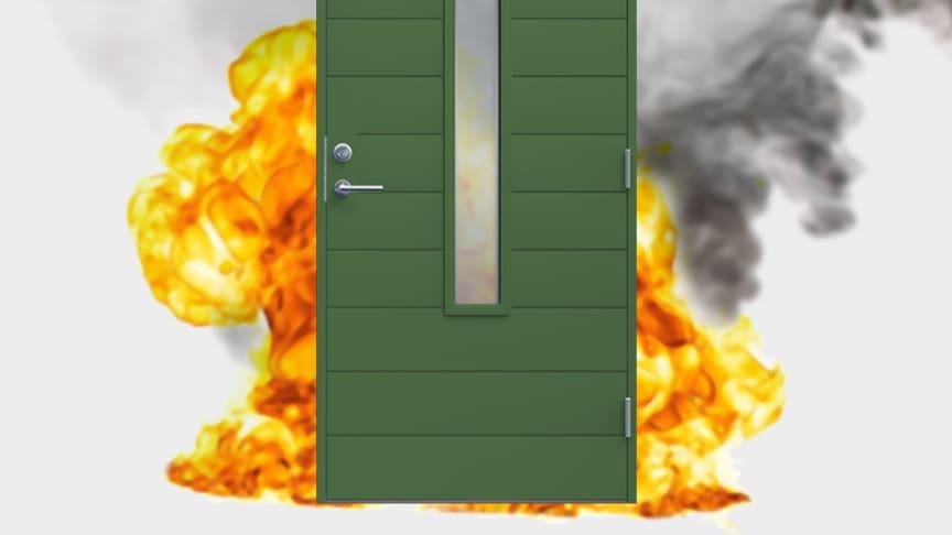Diplomat Dörrar lanserar brandgastäta ytterdörrar  – designade nyckelfaktorer för trygghet