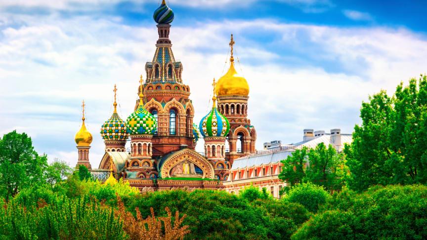 Färgglad kyrka i Sankt Petersburg, Ryssland. Foto: Shutterstock.