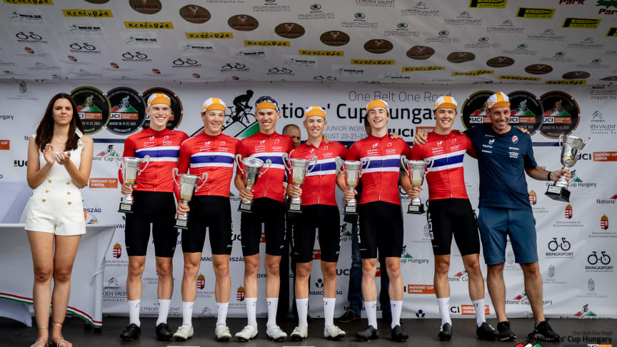 Equinor juniorlandslaget menn vant NationsCup i Ungarn for en uke siden.
