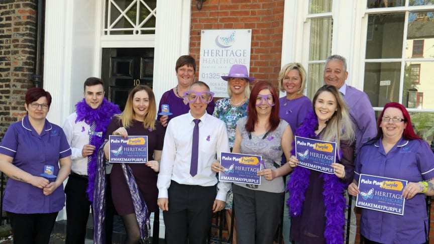 Heritage Healthcare set to Make May Purple for the Stroke Association