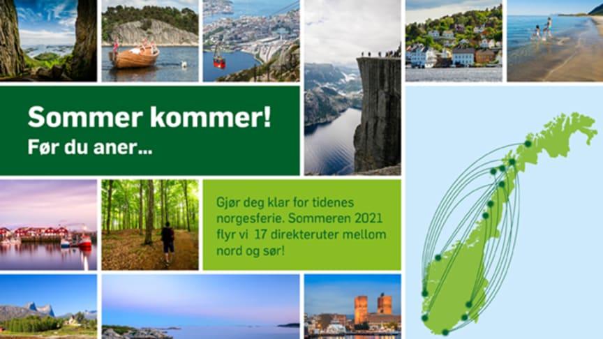 Widerøe lanserer sommerruter – Lofoten står igjen på topp blant nordmenns ønskemål for sommeren 2021