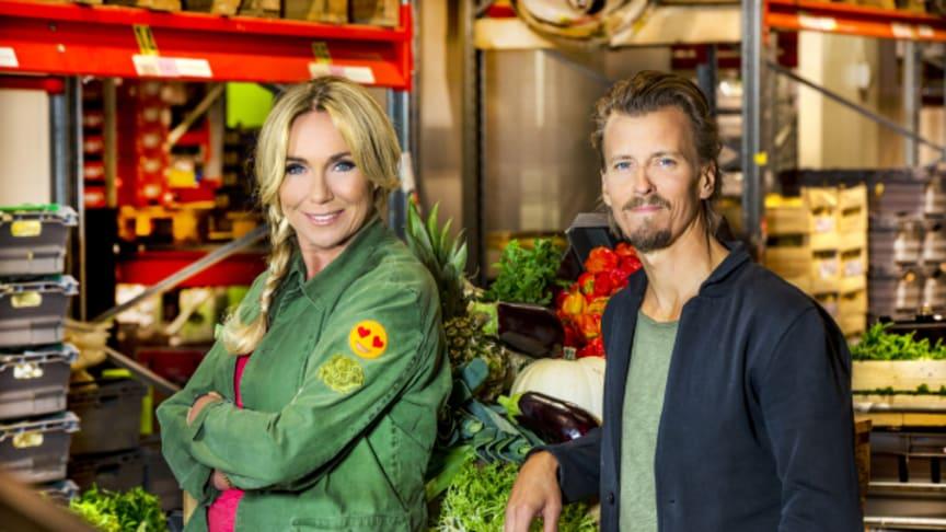 Pressbild från Sveriges Television_Maträddarna - programledare Anne Lundberg och Paul Svensson