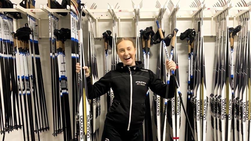 SiO Athletica åpnet skiutleie i januar. Med stengte treningssentre er det ekstra viktig at det legges til rette for aktivitet utendørs.
