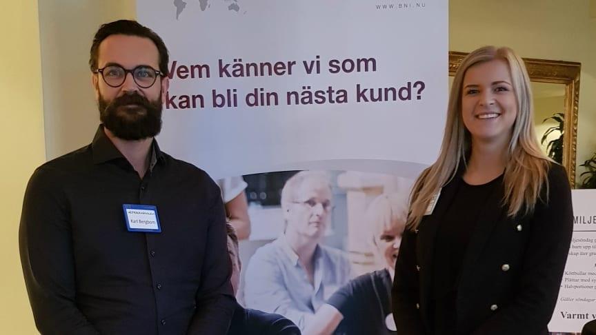 Karl Bergbom från Veteranpoolen och Sophie Jörnelius från Manpower/Experis.