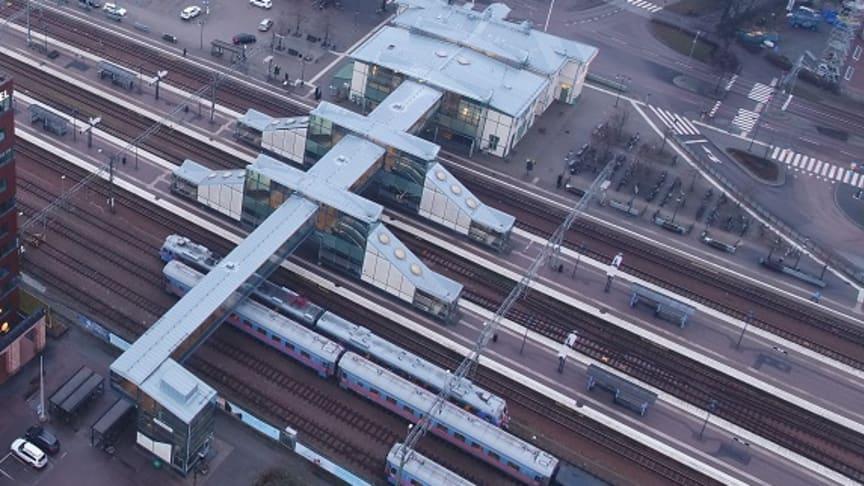 Stationsområdet Västerås. Fotograf Bo Lundvang.