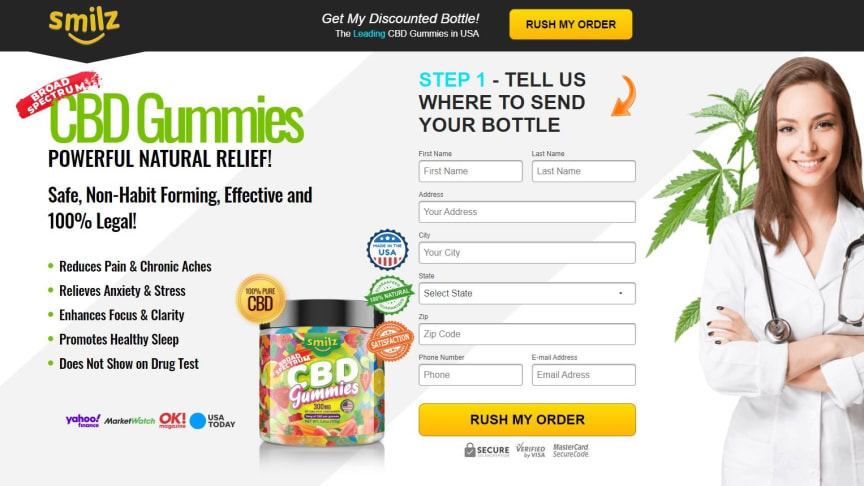 Smilz CBD Gummies [Updeted 2021] Reviews and Benefits - Pure Broad Spectrum Formula To Get A Painless Life With Relaxed Mind.