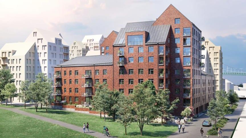 HSB Brf Sannaparken blir ett nytt landmärke i stadsdelen Majorna, Göteborg