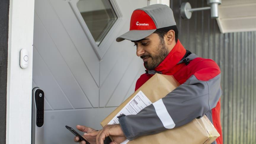 Posten tester levering innenfor døren når du ikke er hjemme. FOTO: Petter Sørnæs / Posten