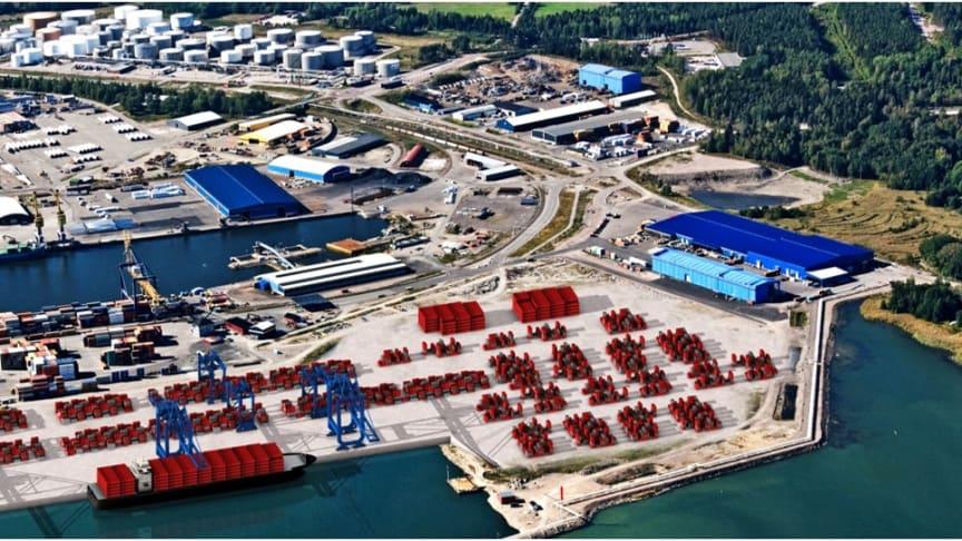 Östkustens största containerterminal fördubblas i kapacitet