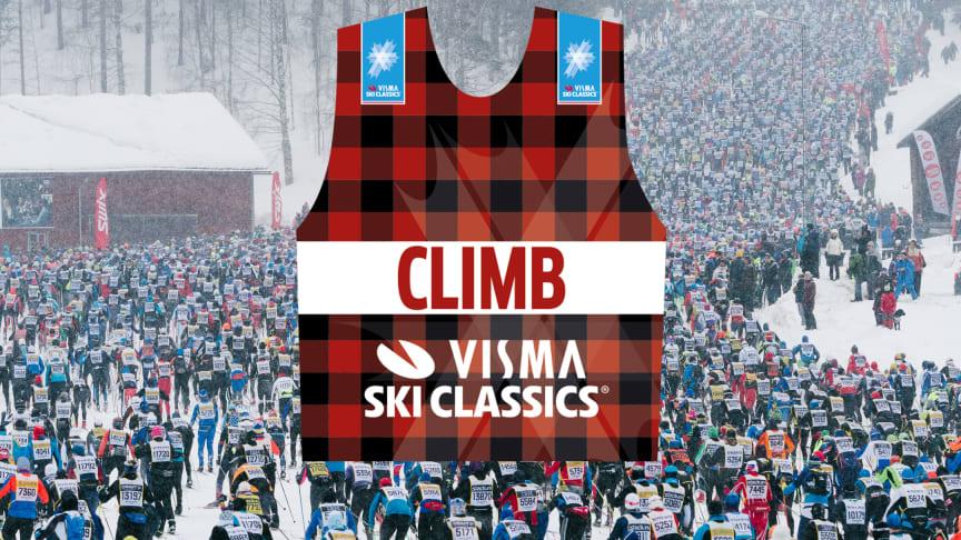 Visma Ski Classics implementerar klätterpris i första backen i Vasaloppet