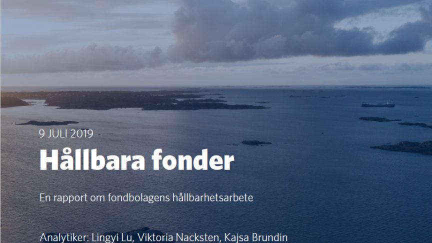 Nordic Cross fonder i topp i Söderberg och Partners hållbarhetsrapport 2019