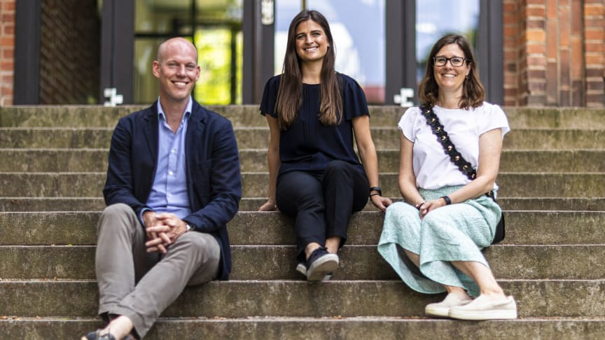 Bilden från vänster: John Sjöberg, Sofie Lundh och Johanna Wiking