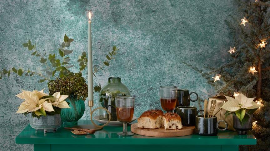 Grönt är skönt julen 2020 och vi hämtar inspiration och idéer från växtriket. Foto: Stars for Europe