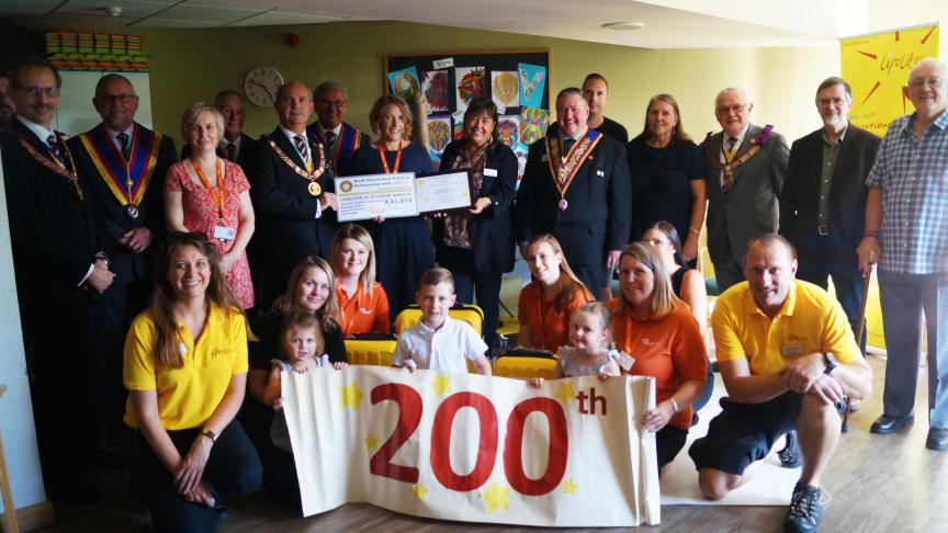 Lifelites charity with ellenor Children's Care team